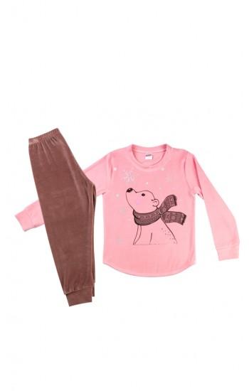 Πυτζάμα Παιδική Minerva Κορίτσι βελουτε bear