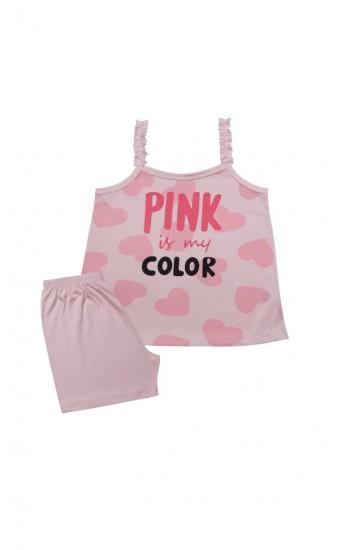 Πυτζάμα Παιδική ραντακι Minerva Pink